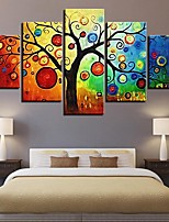 cheap -Print Rolled Canvas Prints - Abstract Modern Five Panels Art Prints