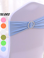cheap -10PCS Spandex Chair Sashes Bows Elastic Chair Bands with Buckle Slider Sashes Bows for Wedding Decorations 36*15cm/14*6inch