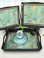 cheap -Tableware Plastic Rectangular Plate Hotel Water Cup Restaurant Creative Tea Tray Beauty Salon European Tea Cup Tray