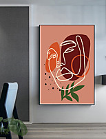 cheap -Wall Art Canvas Prints Painting Artwork Picture Abstract Line figure Home Decoration Decor Rolled Canvas No Frame Unframed Unstretched