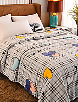 cheap -Blankets & Throws, Plants / Plaid / Check Flannel Toison Warmer Soft Comfy Blankets