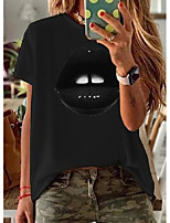 cheap -color block round neck short sleeve casual t-shirts