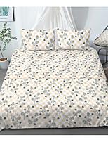 cheap -Print Home Bedding Duvet Cover Sets Soft Microfiber For Kids Teens Adults Bedroom Floral/Flower 1 Duvet Cover 1/2 Pillowcase Shams 1 Flat Sheet