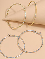 cheap -Women's Hoop Earrings Vintage Style Music Notes Statement Vintage Classic Modern Korean Earrings Jewelry Gold / Silver For Party Gift Daily Club Festival 2 Pairs
