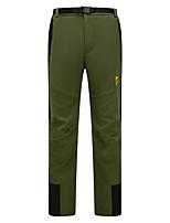 cheap -Men's Fleece Lined Pants Hiking Pants Trousers Softshell Pants Patchwork Winter Outdoor Regular Fit Thermal Windproof Fleece Lining Warm Fleece Nylon Softshell Pants / Trousers Bottoms Army Green