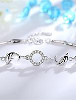 cheap -Women's Chain Bracelet Bracelet Geometrical Dolphin Fashion Copper Bracelet Jewelry Silver For Christmas Party Wedding Daily Work / Silver Plated