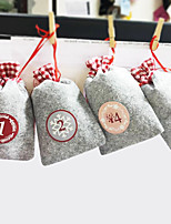 cheap -christmas countdown is coming calendar gift hanging bag christmas german number sticker felt bag set spot