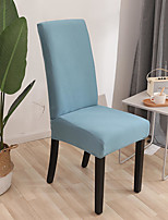 cheap -Stretch Kitchen Chair Cover Slipcover for Dinning Party Solid Four Seasons Universal Super Soft Fabric Retro Hot Sale