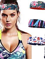 cheap -3 Pcs/set Sports Headbands Printed Men's And Women's Sweat Guide Bands Fitness Yoga Tennis Running Antiperspirant Headbands Sweat-absorbent Headbands
