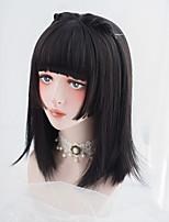 cheap -Princess Hair Daily Black Long Straight Japanese Harajuku Soft Girl Lolita Synthetic Wig Female
