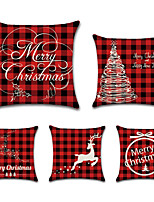 cheap -Christmas Santa Claus Holiday Party Double Side Cushion Cover 5PC Soft Decorative Square Throw Pillow Cover Cushion Case Pillowcase for Bedroom Livingroom Superior Quality Machine Washable Indoor Cushion for Sofa Couch Bed Chair