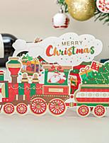 cheap -new product korean creative christmas greeting card cute bronzing new year greeting card desktop decoration gift card train