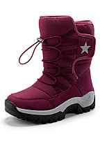 cheap -Women's Boots Flat Heel Round Toe Mid Calf Boots Daily Outdoor PU Solid Colored Burgundy Black / Mid-Calf Boots