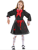 cheap -Witch Zombie Dress Cosplay Costume Adults' Girls' Halloween Halloween Halloween Festival / Holiday Terylene Black Easy Carnival Costumes Printing