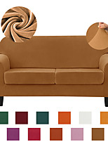 cheap -Velvet Sofa Cover High Stretch Couch Slipcover with Separate Cushion Couch Cover Soft Loveseat Slipcover Furniture Protector Machine Washable,Burnt Orange