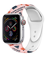 cheap -Smart Watch Band for Apple iWatch 1 pcs Printed Bracelet Silicone Replacement  Wrist Strap for Apple Watch Series 7 / SE / 6/5/4/3/2/1 42/44/45mm 38/40/41mm