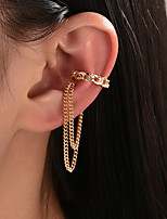 cheap -Women's Clip on Earring Link / Chain Ball Statement Vintage Modern Korean Earrings Jewelry Gold For Party Gift Daily Prom Club 1pc