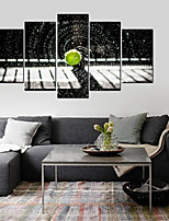 cheap -5 Panels Wall Art Canvas Prints Painting Artwork Picture Still Life Cobblestone Home Decoration Decor Rolled Canvas No Frame Unframed Unstretched