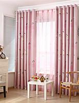 cheap -Window Curtain Window Treatments Pink Cartoon 1 Panel Room Darkening Grommet Rod Pocket Solid For Living Room Bed Room