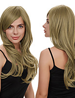 cheap -Synthetic Wig Deep Wave Side Part Wig Long Ombre Brown Synthetic Hair Women's Cosplay Soft Party Brown