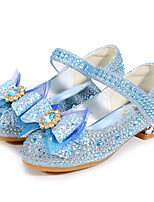 cheap -Girls' Heels Flower Girl Shoes Formal Shoes Princess Shoes School Shoes Rubber PU Dress Shoes Big Kids(7years +) Little Kids(4-7ys) Daily Party & Evening Walking Shoes Rhinestone Bowknot Sparkling