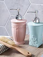 cheap -2pcs European Carved Shower Gel Bottles Hand Wash Bottle Shampoo Empty Press Lotion 400ml