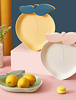 cheap -Nordic Style Peach Fruit Tray Living Room Put Toothpicks Fruit Dried Fruit Plastic Storage Box Office Candy Snack Tray