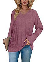 cheap -womens tunic tops to wear with leggings long sleeve pink lightweight sweatshirt m