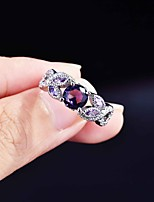 cheap -Women Ring Mismatched Purple Copper Silver Plated Artistic Fashion Punk 1pc 6 7 8 9 / Women's / Open Cuff Ring / Open Ring / Adjustable Ring