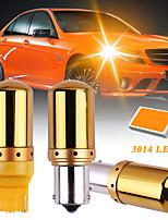 cheap -2PCS CanBus S25 BAU15S 1156 BA15S P21w PY21w T20 7440 W21W Car LED Bulbs 3014 144smd Error Free Turn Signal Lights Brake lamp