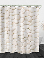 cheap -Beautiful Pebbles Printed Waterproof Fabric Shower Curtain Bathroom Home Decoration Covered Bathtub Curtain Lining Including Hooks.