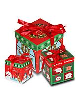 cheap -Christmas Decorations Gift Box Three Piece Set Christmas Tree Scene Decoration Packing Box