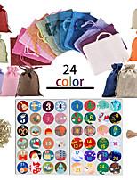 cheap -new linen beam christmas bag gift bag 24-color countdown advent calendar christmas gift bag set in stock