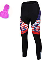 cheap -21Grams Women's Cycling Tights Spandex Bike Tights Quick Dry Moisture Wicking Sports American / USA Red Mountain Bike MTB Road Bike Cycling Clothing Apparel Bike Wear / Stretchy / Athleisure