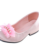 cheap -Girls' Heels Flower Girl Shoes Princess Shoes Satin Little Kids(4-7ys) Big Kids(7years +) Wedding Party Party & Evening Rhinestone Bowknot Pink Champagne Ivory Fall Spring