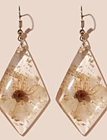 cheap -Women's Hoop Earrings Chandelier Petal Rustic Vintage Classic Modern Korean Earrings Jewelry White For Party Gift Daily Club Festival 1 Pair