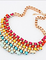 cheap -Necklace Women's Geometrical Vertical / Gold bar Vintage Cool Rainbow 45+5 cm Necklace Jewelry for Street Daily Carnival Festival Geometric