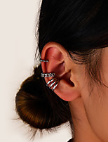 cheap -Women's Clip on Earring Vintage Style Star Crown Fashion Vintage Modern French Earrings Jewelry Silver For Party Gift Daily Prom Club 3pcs