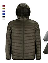 cheap -Men's Hoodie Jacket Sports Puffer Jacket Hiking Down Jacket Down Winter Outdoor Thermal Warm Windproof Fleece Lining Lightweight Outerwear Winter Jacket Trench Coat Fishing Climbing Running Navy