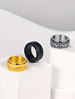 cheap -Ring Silver Gold Black Stainless Steel Tire Stylish Trendy 1pc 7 8 9 10 11 / Women's / Men's / Gift / Daily