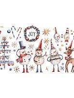 cheap -christmas deer snowflake christmas tree gift candy window glass decoration wall sticker self-adhesive