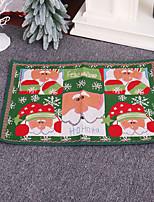 cheap -Christmas Rubber Knitted Floor Mats Christmas Home Decorations Christmas Door Mats