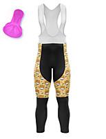 cheap -21Grams Women's Cycling Bib Tights Bike Bib Tights Quick Dry Moisture Wicking Sports Cartoon 3D Animal Yellow Mountain Bike MTB Road Bike Cycling Clothing Apparel Bike Wear / Athleisure