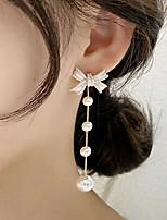 cheap -Women's Ear Tunnels Earrings Long Butterfly Stylish Simple Fashion Earrings Jewelry White For Street Holiday 2pcs