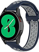 cheap -compatible samsung galaxy watch 4 40mm 44mm band/classic 42mm 46mm bands men women, galaxy watch active 2 bands, 20mm soft silicone sports wristband replacement straps for women men (navy blue/gray)