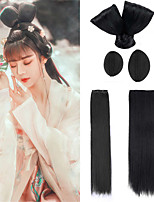 cheap -halloweencostumes Chinese Ancient Costume Wig Hair Accessories Female Cosplay Hanfu Style Hair Bag Performance Props Horn Headgear Pad Suit