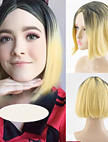 cheap -Synthetic Wig Natural Straight Bob Middle Part Wig Short A1 Synthetic Hair Women's Cosplay Soft Party Black Blonde