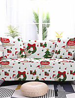 cheap -Christmas Tree Printed Stretch Sofa Cover Slipcover Elastic Sectional Couch Furniture Protector Fit Armchair Loveseat 4 or 3 seater for Christmas Decoration Holiday Decor