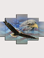 cheap -5 Panels Wall Art Canvas Prints Painting Artwork Picture Eagle Painting Home Decoration Decor Rolled Canvas No Frame Unframed Unstretched