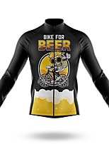 cheap -21Grams Men's Long Sleeve Cycling Jersey Spandex Polyester Yellow Blue White 3D Funny Bike Top Mountain Bike MTB Road Bike Cycling Quick Dry Moisture Wicking Breathable Sports Clothing Apparel